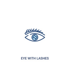 eye with lashes concept 2 colored icon simple vector image