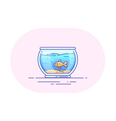 Fishbowl icon design vector