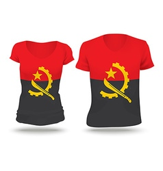 Flag shirt design of Angola vector image