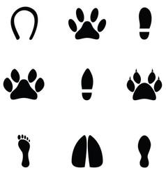 footprint icon set vector image