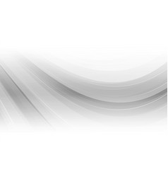 gray curved abstract background vector image