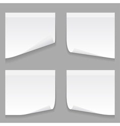 gray stick note set vector image