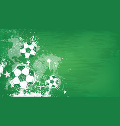Grunge abstract football background with world vector