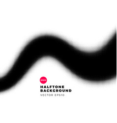 halftone dots background wave shape vector image