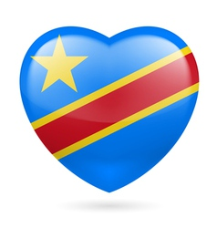 Heart icon of Democratic Republic of Congo vector image