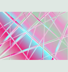Holographic glossy stripes abstract background vector