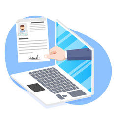 human resources online job application vector image