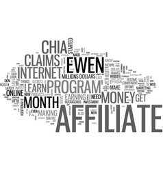 Is ewen chia s affiliate of the month a scam text vector