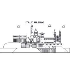 italy urbino line skyline vector image