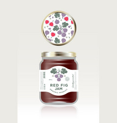 Jam packaging fig vector