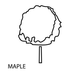 Maple tree icon outline style vector