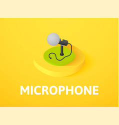 Microphone isometric icon isolated on color vector