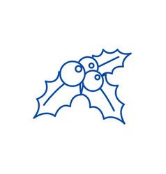 mistletoeornamentchristmas line icon concept vector image