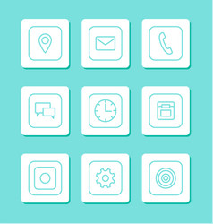 mobile phones buttons icons vector image