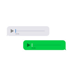 modern sms or voice message icons bubble vector image