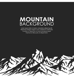 Mountain range isolated on black background vector image