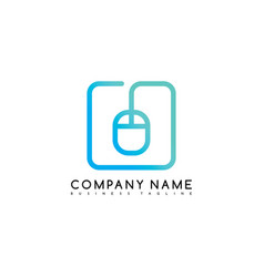 mouse click brand company template logo logotype vector image