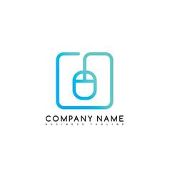 Mouse click brand company template logo logotype vector