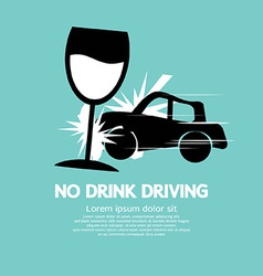 No Drink Driving vector image
