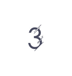 Number 3 template design vector