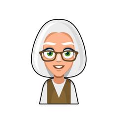 Old woman cartoon icon cute avatar vector