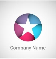 Origami star logo vector