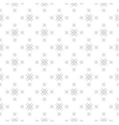 ornamental seamless pattern with cross shapes vector image