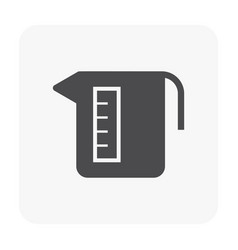 pitcher icon black vector image