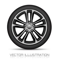 Realistic aluminum wheel car tire style spor vector