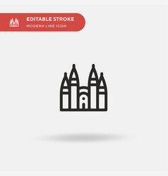 Sagrada familia simple icon vector