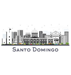 santo domingo dominican republic city skyline vector image