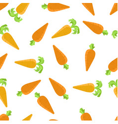 seamless pattern with orange carrots vector image