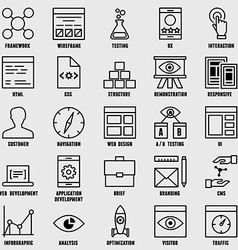 Set of seo and internet service icons - part 1 vector