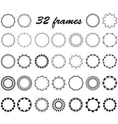 Set round and circular empty frames vector