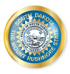 South dakota flag button vector