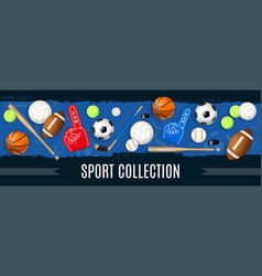 sport inventory realistic vector image