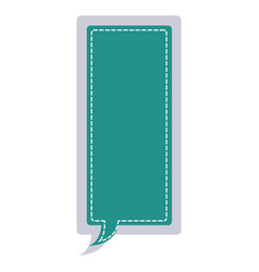 Sticker large rectangle frame callout dialogue vector