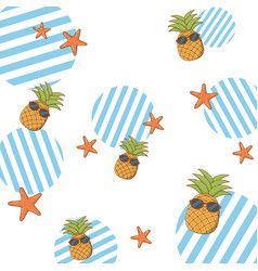 summer and beach background vector image