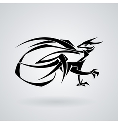 The stylized image of a dragon Tattoo vector image