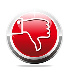 thumb down jaded finger design icon vector image