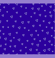 triangles abctract seamless pattern blue vector image