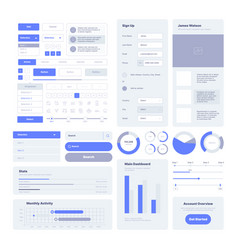 ui kit user layout elements for web design vector image