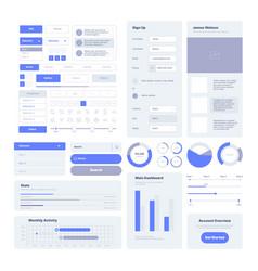 Ui kit user layout elements for web design vector