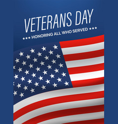 veterans day honoring all who served vector image