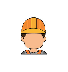 worker faceless profile vector image