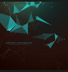abstract dark background with triangles dots and vector image vector image