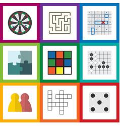 flat icon entertainment set of arrow backgammon vector image vector image
