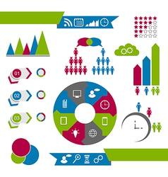Infographic communication design elements vector image vector image