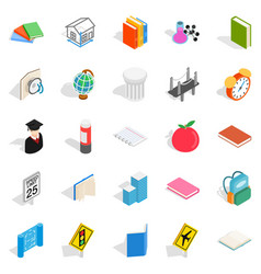 scientific approach icons set isometric style vector image vector image