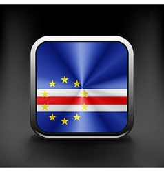 Cape Verde icon flag national travel icon country vector image vector image
